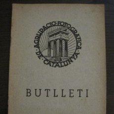 Collectionnisme Papier divers: GUERRA CIVIL-BARCELONA-AGRUPACIO FOTOGRAFICA DE CATALUNYA-BUTLLETI OCTUBRE 1936-VER FOTOS-(V-17.372). Lote 169345752