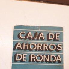 Coleccionismo Papel Varios: FUNDA CARTILLA CAJA AHORROS RONDA, CARTÓN. . Lote 169436520