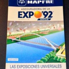 Coleccionismo Papel Varios: FOLLETO EXPO´92 MAPFRE. EXPOSICIONES UNIVERSALES.. Lote 169557932