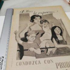 Coleccionismo Papel Varios: ANTIGUA PUBLICIDAD JEFATURA CENTRAL DE TRÁFICO. . Lote 169798468