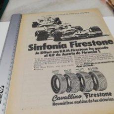 Coleccionismo Papel Varios: ANTIGUA PUBLICIDAD NEUMÁTICOS FIRESTONE. 1971.. Lote 169798708