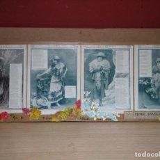 Coleccionismo Papel Varios: COLLAGE MODA SEÑORA ARTISTAS CUATRO ESTACIONEX DE 1915 CATALINA BARCENAS PEREZ DE VARGAS POR KAULAK. Lote 170060916