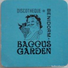 Coleccionismo Papel Varios: POSAVASOS DISCOTHEQUE BACCUS GARDEN DE BENIDORM. Lote 170315816