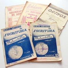 Coleccionismo Papel Varios: LOTE DE 5 CUADERNOS VARIADOS DE ESCRITURA ANTIGUOS - OCASIÓN -. Lote 170358876