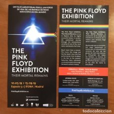Coleccionismo Papel Varios: FLYER - THE PINK FLOYD EXHIBITION - THEIR MORTAL REMAINS. Lote 186217105