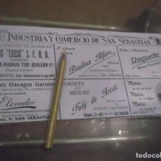 Coleccionismo Papel Varios: RECORTE PUBLICIDAD AÑO 1918 - PUBLICIDAD INDUSTRIA Y COMERCIOS DE SAN SEBASTIAN( GUIPÚZCOA). Lote 170453080
