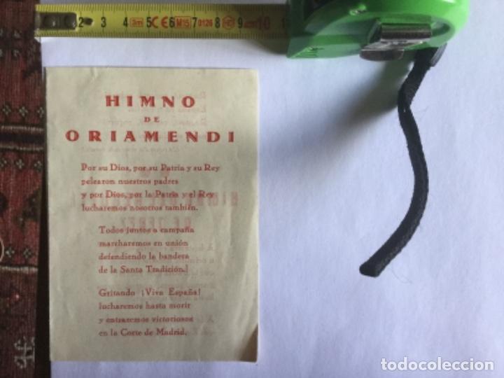 HIMNO DE ORIAMENDI (Coleccionismo en Papel - Varios)