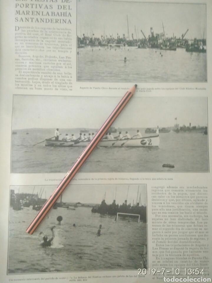 RECORTE PRENSA AÑOS 20/1925 FIESTA DEPORTIVA BAHÍA SANTANDERINA,CLUB MONTAÑES REGATAS ETC.VER (Coleccionismo en Papel - Varios)