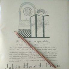 Coleccionismo Papel Varios: RECORTE PRENSA AÑOS 20/1925 PUBLICIDAD JABÓN HENO DE PRAVIA. Lote 170938612