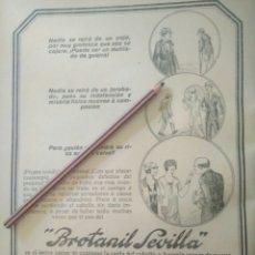 Coleccionismo Papel Varios: RECORTE PRENSA AÑOS 20/1925 PUBLICIDAD BROTANIL SEVILLA. Lote 170939609