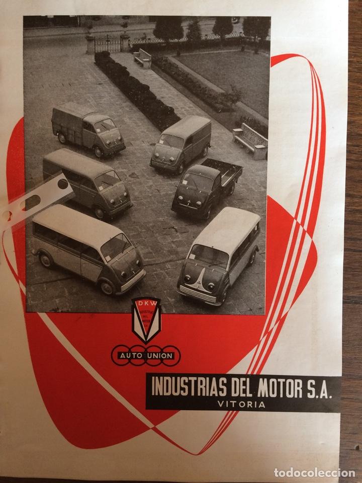 PUBLICIDAD FURGONETA DKW DE 1960 (Coleccionismo en Papel - Varios)