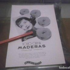 Coleccionismo Papel Varios: RECORTE PUBLICIDAD AÑOS 50 - POLVOS - CREMA - MADERAS - MYRURGIA. Lote 171052309