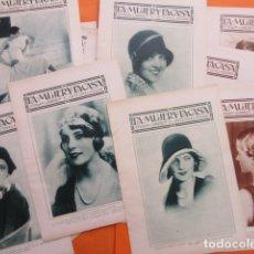 Coleccionismo Papel Varios: MAS DE 140 PAGINAS AÑO 1929 LA MUJER Y LA CASA MODELOS FIGURINES MODA VINTAGE MODISTA MANIQUI . Lote 171263890