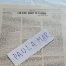Coleccionismo Papel Varios: LOS REYES MOROS DE GRANADA, POR CARLOS ASENJO SEDANO. Lote 171269467