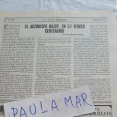 Coleccionismo Papel Varios: EL ARZOBISPO RAJOY, EN SU TERCER CENTENARIO, POR ANGEL PADIN PANIZO. Lote 171270812