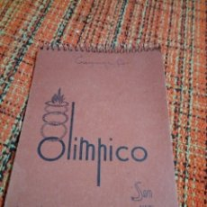 Coleccionismo Papel Varios: LIBRETA OLÍMPICO. Lote 171280533