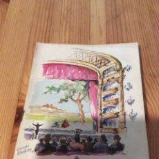 Altri oggetti di carta: GRAN TEATRO LICEO 1962 LICEU ARAGALL BATLLE ESCORPION IGUALADA NESTLE DANONE. Lote 171345459