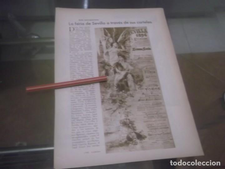 RECORTE AÑO 1933 - SEVILLA. LA FERIA DE SEVILLA A TRAVÉS DE SUS CARTELES, POR JOSÉ MARIA TASSARA (Coleccionismo en Papel - Varios)