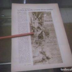 Coleccionismo Papel Varios: RECORTE AÑO 1933 - SEVILLA. LA FERIA DE SEVILLA A TRAVÉS DE SUS CARTELES, POR JOSÉ MARIA TASSARA. Lote 171707947