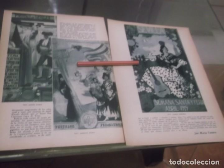 Coleccionismo Papel Varios: RECORTE AÑO 1933 - SEVILLA. LA FERIA DE SEVILLA A TRAVÉS DE SUS CARTELES, POR JOSÉ MARIA TASSARA - Foto 2 - 171707947