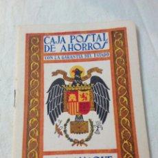 Coleccionismo Papel Varios: CAJA POSTAL DE AHORROS ALMANAQUE 1958. Lote 171716285