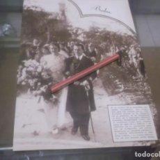 Coleccionismo Papel Varios: RECORTE AÑO 1933 - BODA EN VILLAFRANCA DEL CASTILLO ,FAUSTINA BALLESTEROS LLACA CON FRANCISCO PARGA. Lote 171724875