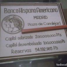 Coleccionismo Papel Varios: RECORTE PUBLICIDAD AÑO 1933 - BANCO HISPANO AMERICANO. Lote 171782073