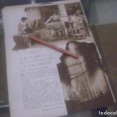 Coleccionismo Papel Varios: RECORTE AÑO 1933 - LA FABRICACIÓN DE MIXTOS GARIBALDI,CASTILLO FUEGOS, POR HIPOLITO TIO SANCHEZ. Lote 171820828