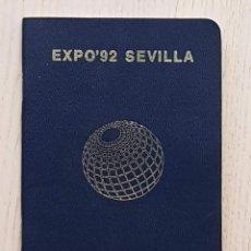 Coleccionismo Papel Varios: PASAPORTE EXPO 92 SEVILLA. (CON 46 SELLOS DE PABELLONES Y DATOS SIN RELLENAR). Lote 171979617