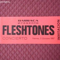 Coleccionismo Papel Varios: INVITACION DISCOTECA BARRACA CONCIERTO THE FLESHTONES RUTA VALENCIA AÑOS 80. Lote 172185522