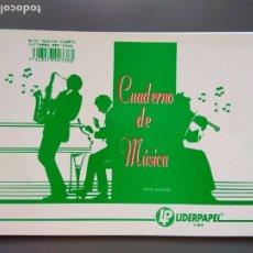 Coleccionismo Papel Varios: CUADERNO MUSICA A5. Lote 172203585