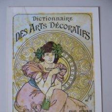 Coleccionismo Papel Varios: LÁMINAS REPRODUCCIÓN CARTELES MODERNISTAS - ART NOUVEAU. MEDIDAS 23,50 X 16,50 CM. Lote 172302725