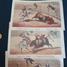Coleccionismo Papel Varios: LAMINAS ANTIGUAS DE TOROS. Lote 172390937