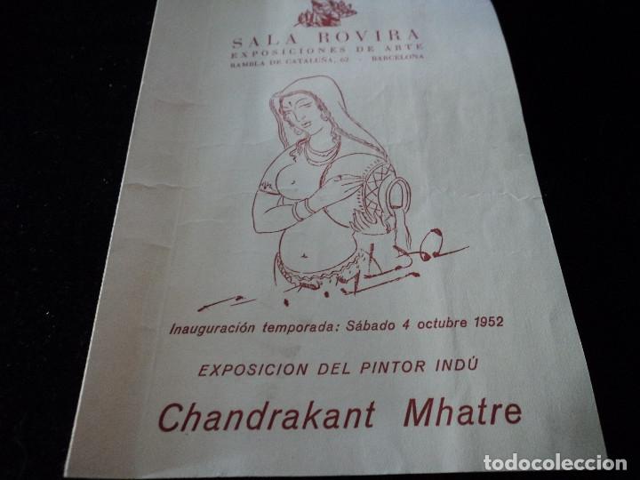 EXPOSICION DEL PINTOR CHANDRAKANT MHATRE SALA ROVIRA 1952 (Coleccionismo en Papel - Varios)