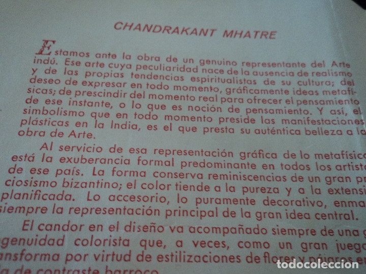 Coleccionismo Papel Varios: EXPOSICION DEL PINTOR CHANDRAKANT MHATRE SALA ROVIRA 1952 - Foto 2 - 172455298
