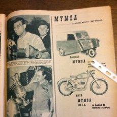 Coleccionismo Papel Varios: PUBLICIDAD AUTOMÓVIL MOTO TRICICLO MYMSA DE 1957. Lote 172732203