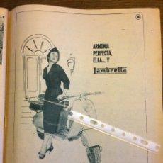 Coleccionismo Papel Varios: PUBLICIDAD MOTO LAMBRETTA DE 1957. Lote 172732312