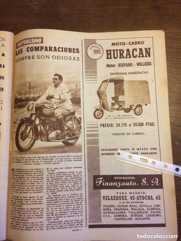 PUBLICIDAD MOTOCARRO HURACÁN FINANZAUTO DE 1957 (Coleccionismo en Papel - Varios)
