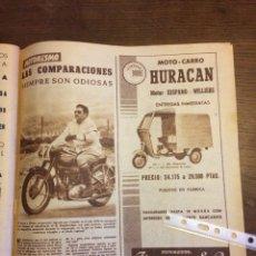 Coleccionismo Papel Varios: PUBLICIDAD MOTOCARRO HURACÁN FINANZAUTO DE 1957. Lote 172732340
