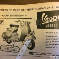 Coleccionismo Papel Varios: PUBLICIDAD MOTO VESPA DE 1955. Lote 172732427