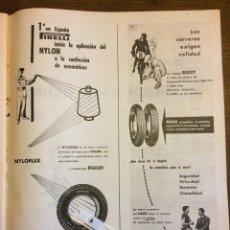 Coleccionismo Papel Varios: PUBLICIDAD NEUMÁTICOS PIRELLI DE 1955. Lote 172732504