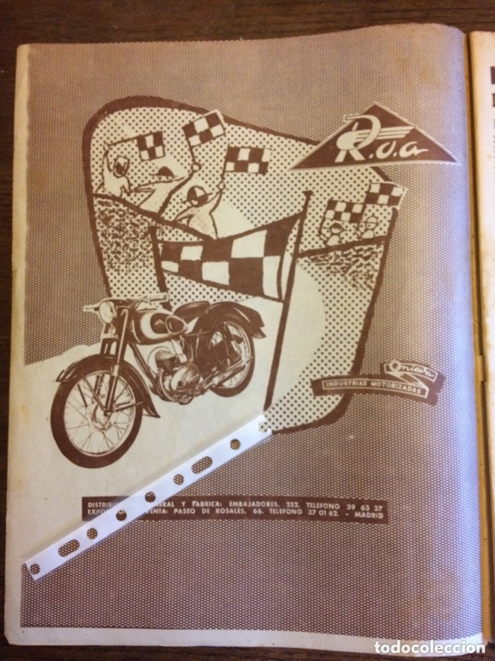 PUBLICIDAD MOTO ROA ONIEVA DE 1955 (Coleccionismo en Papel - Varios)
