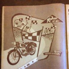 Coleccionismo Papel Varios: PUBLICIDAD MOTO ROA ONIEVA DE 1955. Lote 172732525