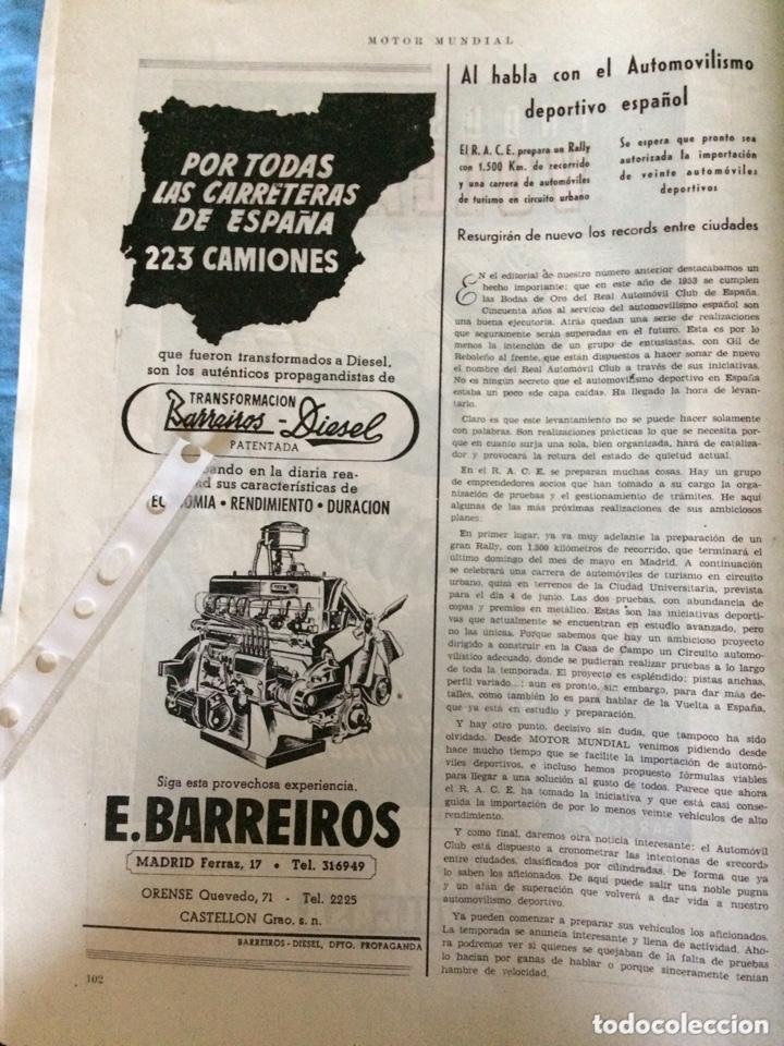 PUBLICIDAD CAMIÓN BARREIROS DIÉSEL DE 1953 (Coleccionismo en Papel - Varios)