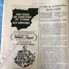 Coleccionismo Papel Varios: PUBLICIDAD CAMIÓN BARREIROS DIÉSEL DE 1953. Lote 172837617