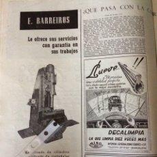 Coleccionismo Papel Varios: PUBLICIDAD AUTOMÓVIL CAMIÓN BARREIROS DE 1953. Lote 172837668