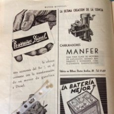 Coleccionismo Papel Varios: PUBLICIDAD AUTOMÓVIL CAMIÓN BARREIROS DE 1952. Lote 172837800