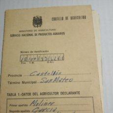 Coleccionismo Papel Varios: CARTILLA AGRICULTOR,SAN MATEO. Lote 172864679