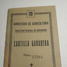Coleccionismo Papel Varios: CARTILLA GANADERA TALES. Lote 172917097