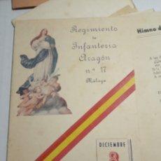 Coleccionismo Papel Varios: REGIMIENTO DE INFANTERÍA ARAGÓN. Lote 172918064